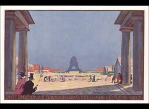 Ganzsache Internationale Baufachausstellung Leipzig 1913 - Germania