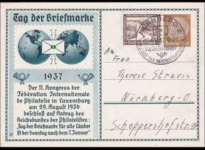 Ganzsache Tag der Briefmarke 1937 von Nürnberg