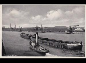 Ganzsache Eposta Essen 1932 mit Sonderstempel und Ansicht Hafen, P106/04
