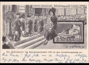 Ganzsache Rheinische Briefmarkenausstellung Düsseldorf 1936 mit Sonderstempel