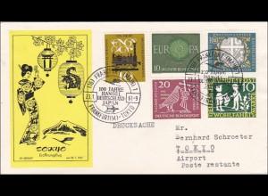 Eröffnungsflug Tokyo am 23.1.1961 Frankfurt - Tokyo