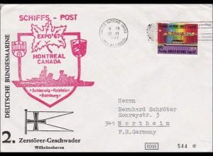 Schiffs-Post Epo 1967 Montreal Canada - Schleswig-Holstein Hamburg