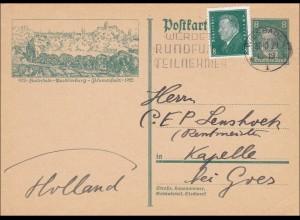 Ganzsache Wiesbaden nach Holland Werbung Rundfunkteilnehmer 1929