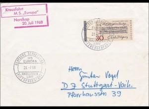 Kreuzfahrt M.S. Europa, Nordkap 20. Juli 1968 - Spitzbergenfahrt