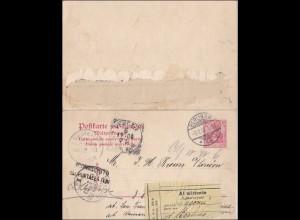 Ganzsache mit Antwort von Berlin 1902 nach London und zurück