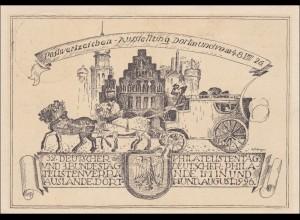 Ganzsache:Festkarte Ausstellung Dortmund 1926, Sonderstempel,32 Philatelistentag