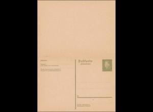 Ganzsache: P200 I, mit Antwortkarte, ungebraucht