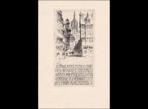 Ganzsache: 28. Philatelistentag Frankfurt 1922 mit Sonderstempel
