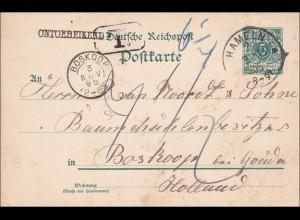 Ganzsache: 1895 von Hammeln nach Holland