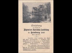 Ganzsache: Gartenbau Ausstellung 1897 in Hamburg nach Berlin