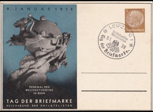 Ganzsache: Tag der Briefmarke 1938 Leipzig