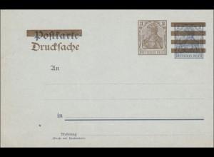 Ganzsache: Germania Drucksache mit Werbung Briefmarken
