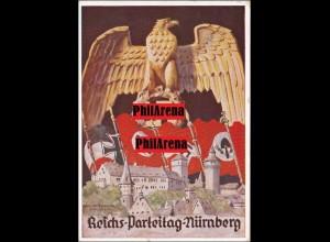 Propaganda Karte: Reichs Partei Tag Nürnberg 1935 mit Werbestempel dazu