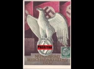 Propaganda Karte: Reichsparteitag Nürnberg 1937 mit Sonderstempel