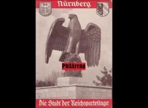 Propaganda Karte: Nürnberg, Stadt der Reichsparteitage 1935