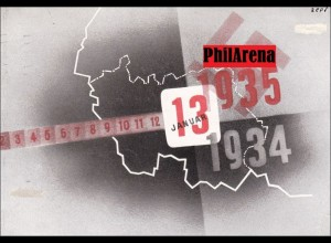 Propaganda Karte: 13. Januar 1935: Volksabstimmung im Saargebiet, echt gelaufen