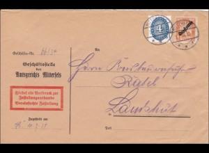 DR Dienst: Amtsgericht Mitterfels nach Landshut 1934