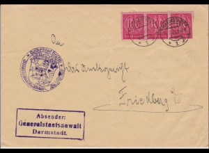 DR Dienst: Generalstaatsanwaltschaft Darmstadt nach Friedberg 1923