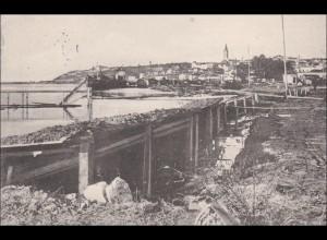 DR Dienst: AK: Serbische Verteidigung bei Belgrad nach Karlsruhe 1916