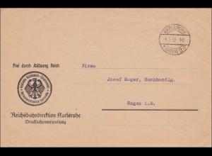 DR Dienst: Reichsbahndirektion Karlsruhe nach Engen 1930