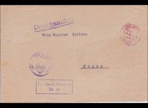 DR Dienst: Drucksache Badisches Ministerium d. Inneren Karlsruhe 1928 nach Engen