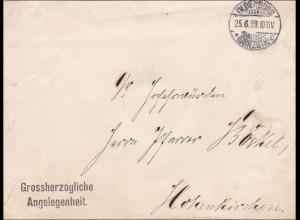DR Dienst: Grossherzogliche Angelegenheit Oldenburg nach Hohenkirchen 1899