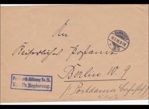 DR Dienst: Königl. Oberpräsidium der Provinz Hannover an Magistrat Dassel 1901