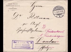 DR Dienst: Schnitzerei Schule Furtwangen nach Landau/Pflaz 1902