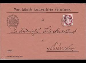 DR Dienst: Königl. Amtsgericht Abensberg nach München