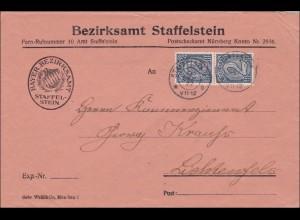 DR: Dienst: Bezirksamt Staffelstein nach Lichtenfels 1922