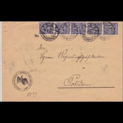 DR: Dienst: Preussisches Landes Getreide Amt nach Potsdam 1922 - Inflation