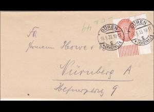 DR Dienst: Amtsgericht Düren nach Nürnberg 1933