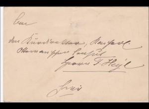 Brief der Hofdame J.K. ROH. D. Frau Prinzessin Luise von Preussen