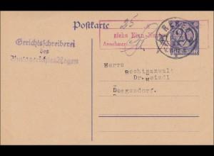 Gerichtsschreiberei Regen nach Deggendorf 1923