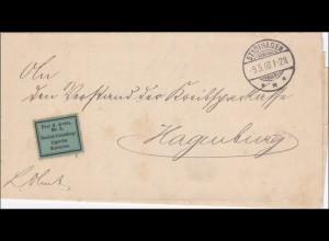 Kreis Stadthagen nach Hagenburg 1903 Portofrei
