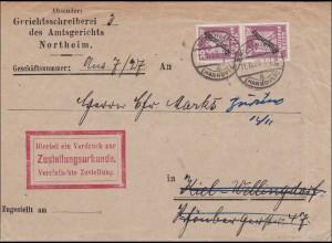 Gerichtsschreiber Northeim nach Kiel Wellingdorf 1927
