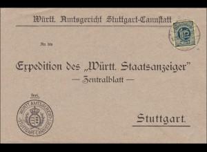 Amtsgericht Stgt. Cannstatt an Württemb. Staatsanzeiger