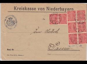 Kreiskasse Niederbayern Landshut nach Passau 1923