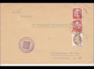 Bürgermeisteramt Rohrdorf an Heilanstalt Rottenmünster 1932