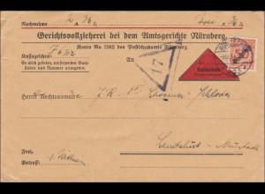 Gerichtsvollzieher Nürnberg als Nachnahme nach Landshut 1931
