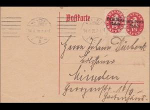 Postkarte innerhalb von München 1920 - Ganzsache