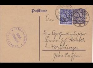 Ganzsache vom Finanzamt Gardelegen 1921