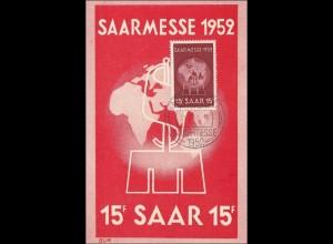 Ansichtskarte zur Saarmesse 1952