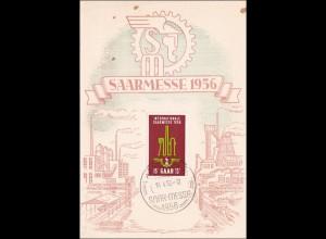 Ansichtskarte zur Saarmesse 1956