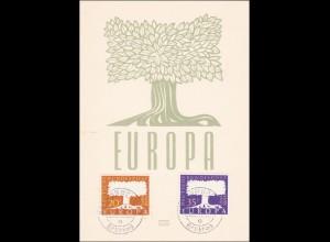 Saar: Europa Briefmarken Saarland 1957 - Ersttag