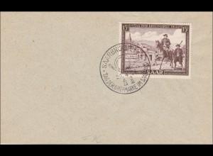 Saar: Saarbrücken Tag der Briefmarke 1951, FDC