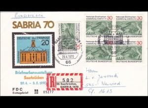 SABRIA: 1970; R-Brief Saarbrücken nach Neuwied