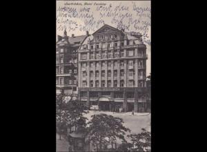 Saar: Ansichtskarte 1925 Saarbrücken Hotel Excelsior
