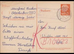 Saar: 1957 von Oberleuken (Merzig) nach Celle