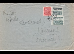 B&M: Brief von Prag an das Standesamt München 1939